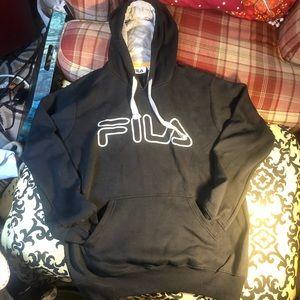 File black pullover hoodie